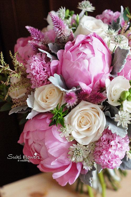 大牡丹風信子玫瑰鮮花花球