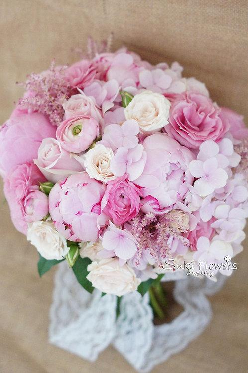 大牡丹繡球小牡丹桔梗小玫瑰鮮花花球