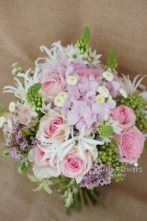 玫瑰繡球石蒜伯利恆之星鮮花花球