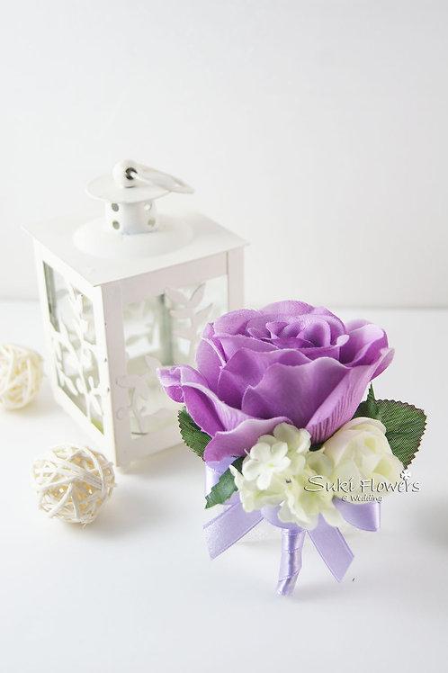 紫玫瑰襟花