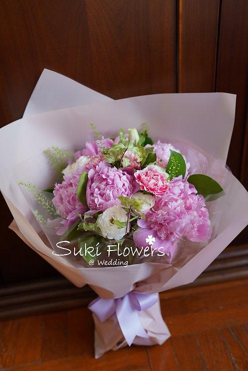 母親節牡丹康乃馨鮮花花束