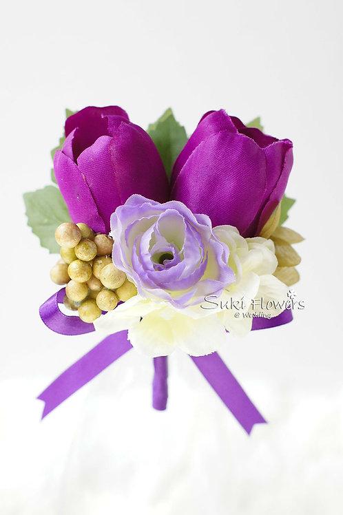 紫色鬱金香海棠襟花