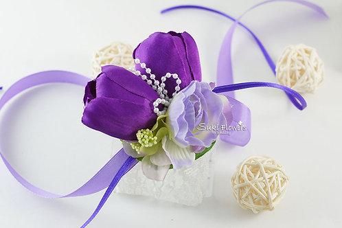 紫色鬱金香海棠手花