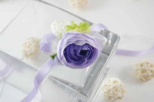 紫色海棠小牡丹手花