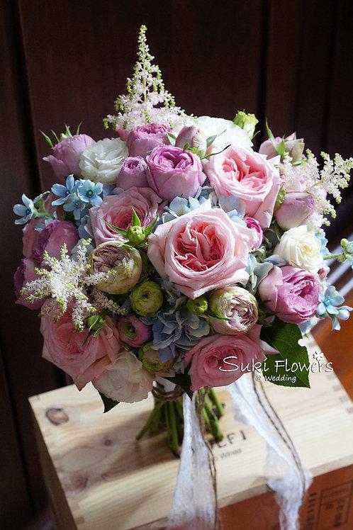 庭園玫瑰藍星小玫瑰繡球鮮花花球