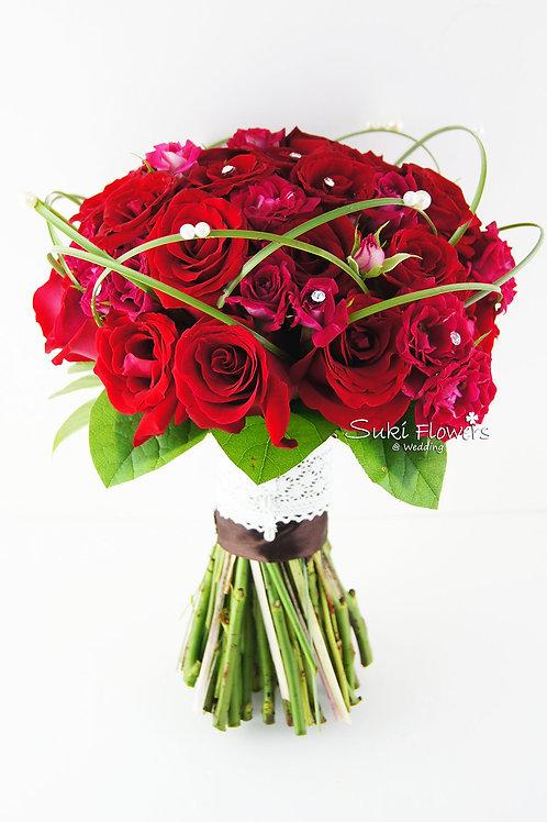 紅玫瑰鮮花花球