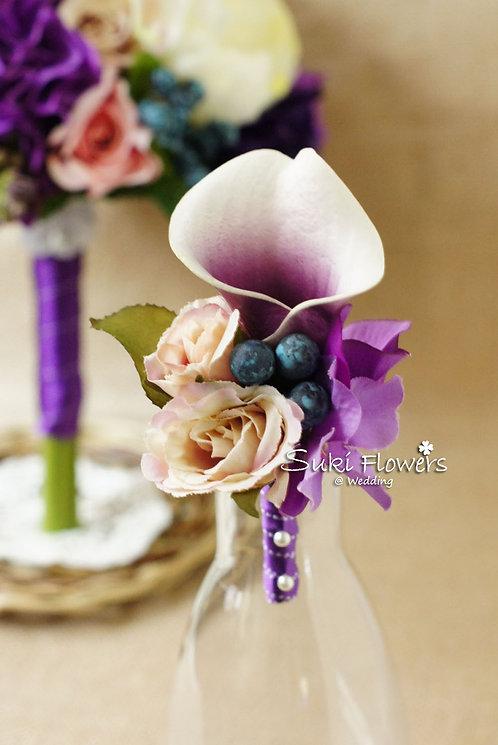 紫白馬碲蘭小玫瑰藍果子襟花