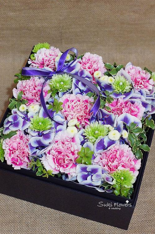 康乃馨繡球鮮花Flowers Box