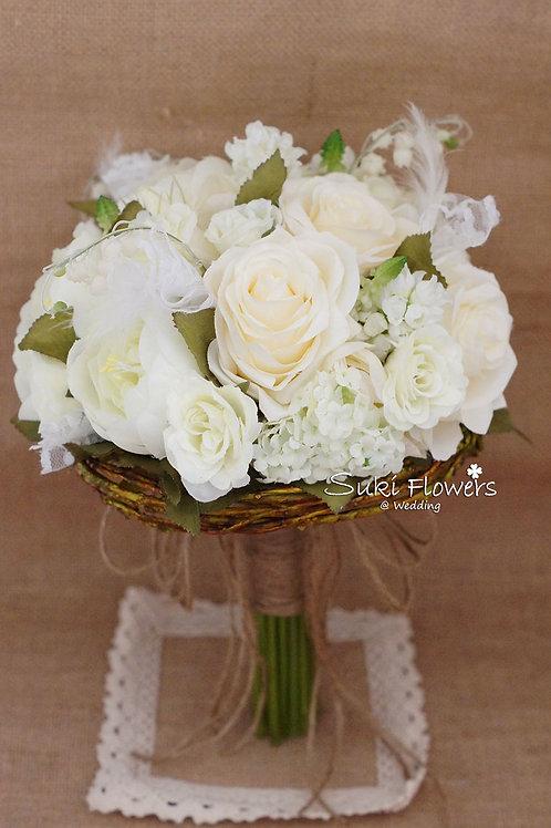 玫瑰大牡丹鈴蘭風信子仿真絲花花球