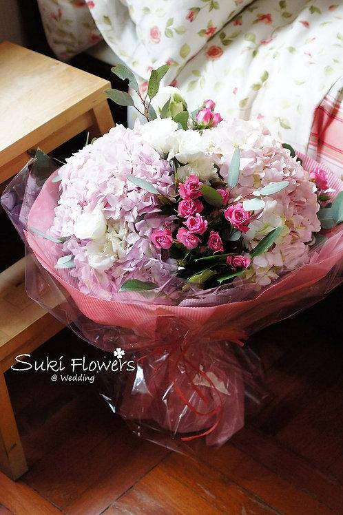 繡球小玫瑰鮮花花束