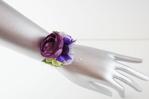 紫紅小牡丹手花