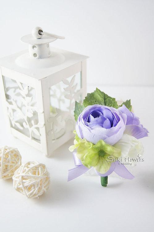 紫色海棠小牡丹襟花