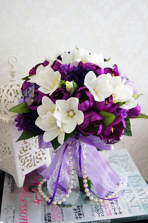 雞蛋花紫鬱金香桔梗風信子絲花花球