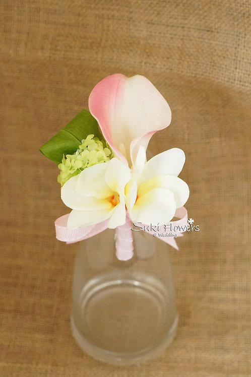 粉色馬碲蘭雞蛋襟花