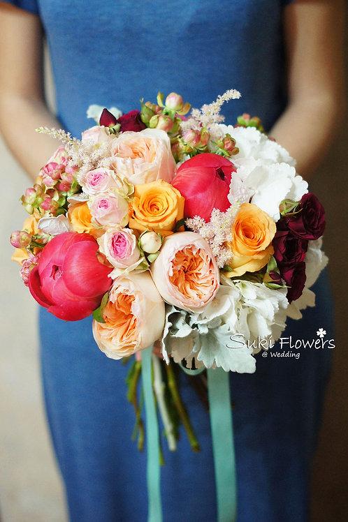 庭園玫瑰大牡丹繡球鮮花花球