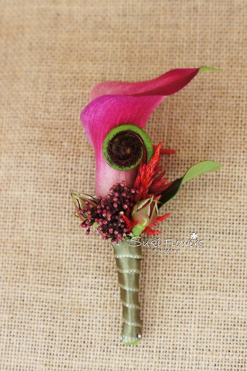 馬蹄蘭過貓山鮮花襟花