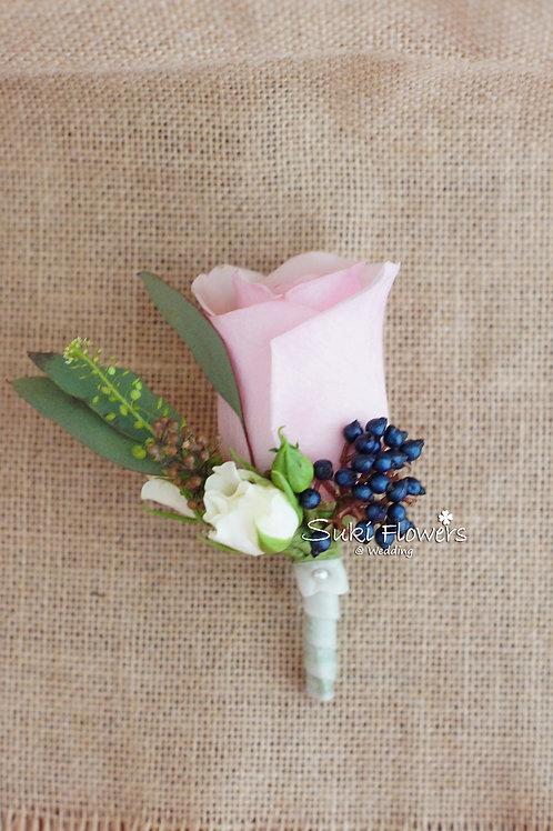 美淺粉玫瑰莢蒾鮮花襟花