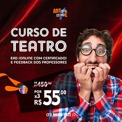 Curso de Teatro online por R$ 55,00 FEED