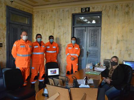 PRESIDÊNCIA DA CÂMARA RECEBE VISITA DO COMANDANTE DO CORPO DE BOMBEIROS DE VARGINHA