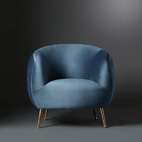 Club Chair Cecily, oceanblue