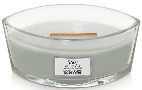 WoodWick® Lavender & Cedar Kerzenglas mit Knisterdocht