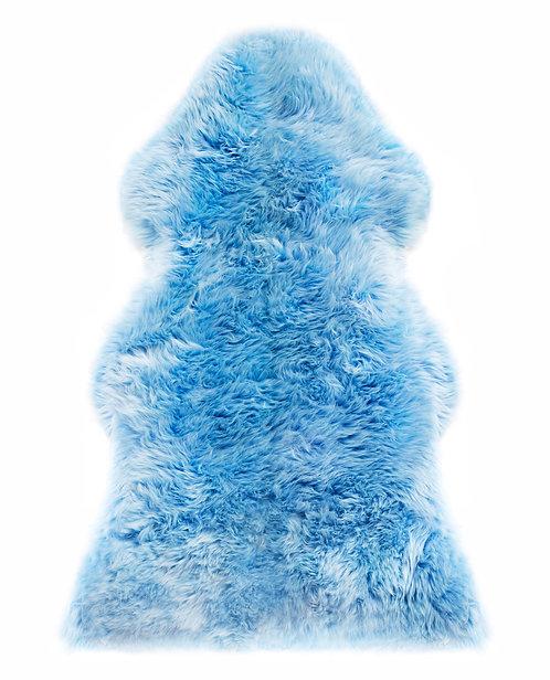 Schaffell, blau