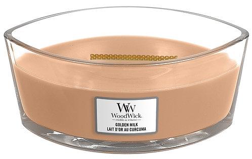 WoodWick® Golden Milk Kerzenglas mit Knisterdocht