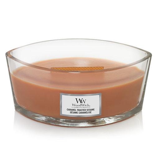 WoodWick® Caramel Toasted Sesame Kerzenglas mit Knisterdocht
