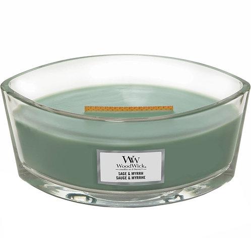 WoodWick® Sage & Myrrh Kerzenglas mit Knisterdocht