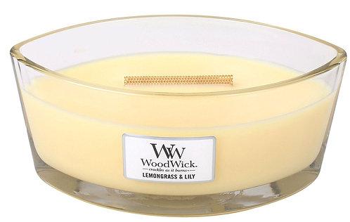 WoodWick® Lemongrass & Lily Kerzenglas mit Knisterdocht