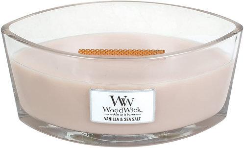 WoodWick® Vanilla & Sea Salt Kerzenglas mit Knisterdocht