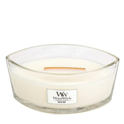 WoodWick® White Teak Kerzenglas mit Knisterdocht