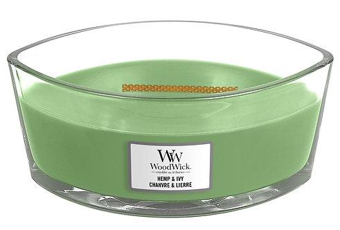WoodWick® Hemp & Ivy Kerzenglas mit Knisterdocht