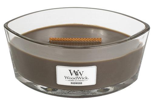 WoodWick® Oudwood Kerzenglas mit Knisterdocht