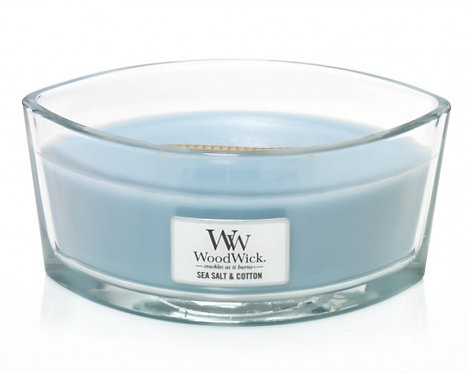 WoodWick® Sea Salt & Cotton Kerzenglas mit Knisterdocht