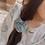Thumbnail: BlueBerry  Chanderi Scrunchie