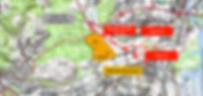 Les tracés du projet d'autoroute A31 bis