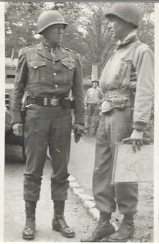 Général Patton à Bétange, le 23 septembr