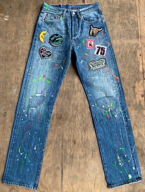 Levis jeans 501 Hand painted size 29x34