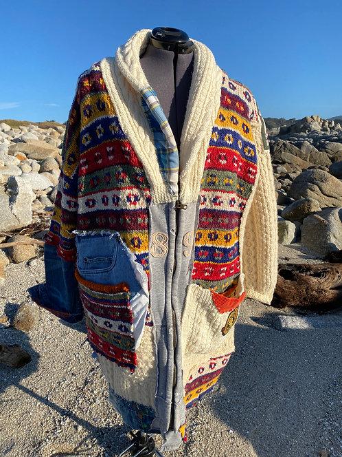 Wool Denim Coat