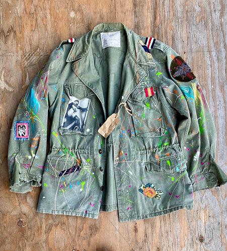 """Vintage US Army Field Jacket OG-107 M-1951 Korean War"""" Lucky Devil"""""""