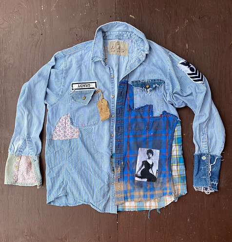 "Denim Shirt ""Knockout""size L-XL"