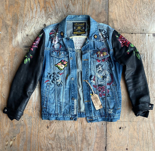 CULT OF INDIVIDUALITY CUSTOM Jeans Jacket Men's US L (EU) 52