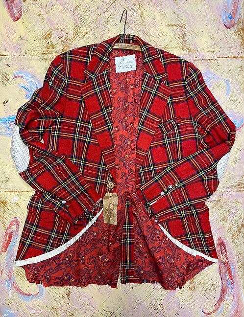 Wool Tartan Jacket size L