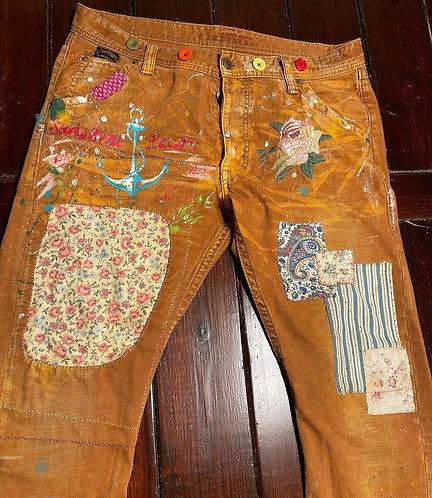 "Jackeroo Denim Jeans ""Langsyne"" Made in Australia CUSTOM size 38x34"