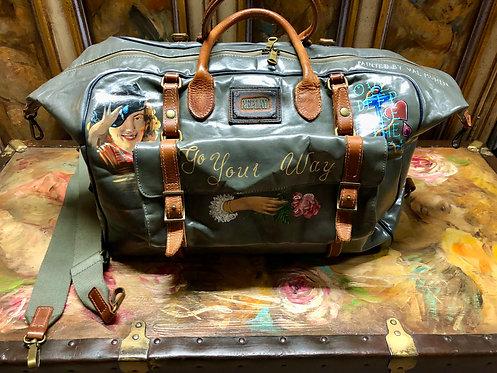 REPLAY Expandable Duffel Bag CUSTOM Hand painted
