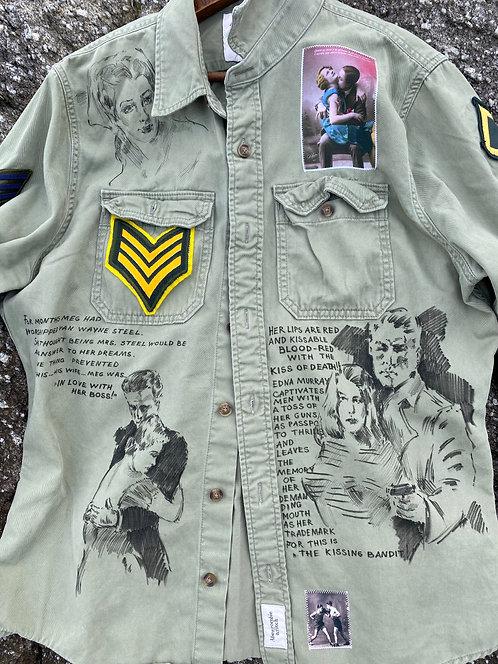 """Cotton Shirt """"Dreamer"""" size XL (L)"""