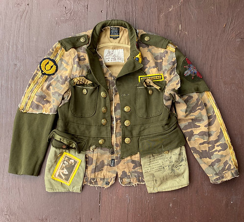 "Military Jacket ""I'll be back soon"" size L-XL"