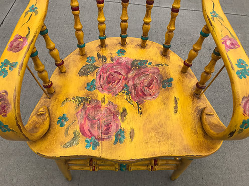 Yellow Wood Country style chair