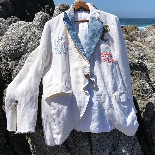 "Summer Jacket ""Love Deep Like the Sea"" unisex size XL"